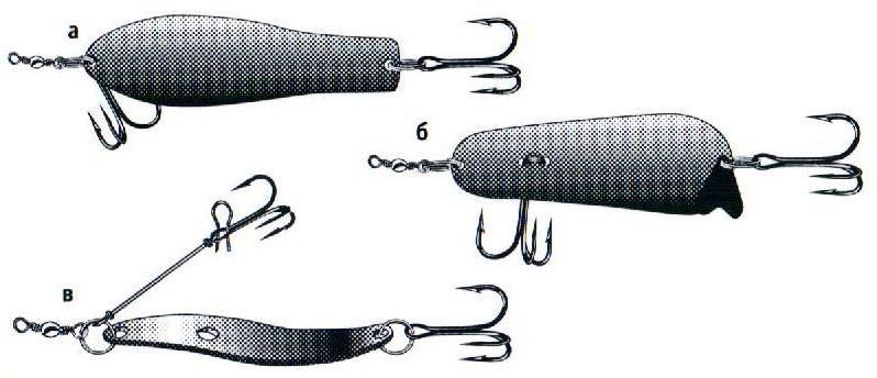 оснащение колебалок крючком