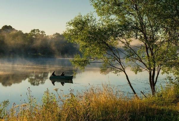 пейзаж река рыбалка