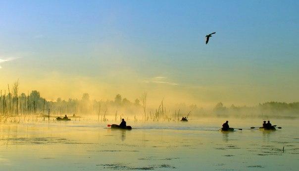 рыбалка в поселке рассвет